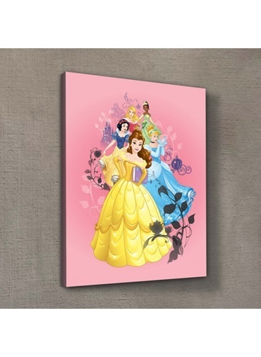 Disney Prensesler-1 30x40 cm Kanvas Tablo Renkli